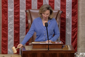 Congresswoman Barbara Comstock presiding over the House of Representatives in November. Courtesy Photo